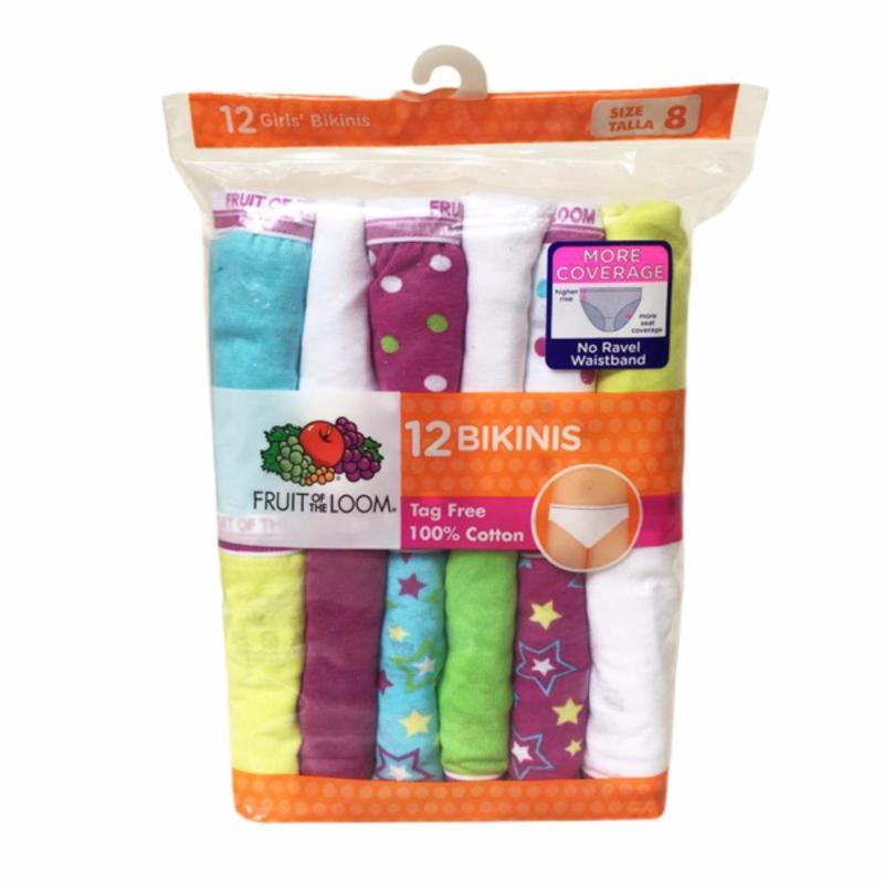 Nơi bán Set 12 quần chip bé gái Fruit of the Loom Bikinis