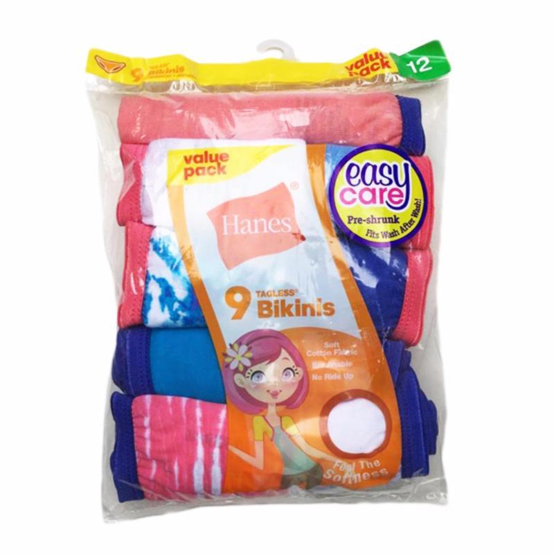 Nơi bán Set 9 quần chip bé gái Hanes Cotton Bikini