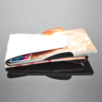 Slim Double Sided Money Clip Credit Card Holder Wallet (Intl)