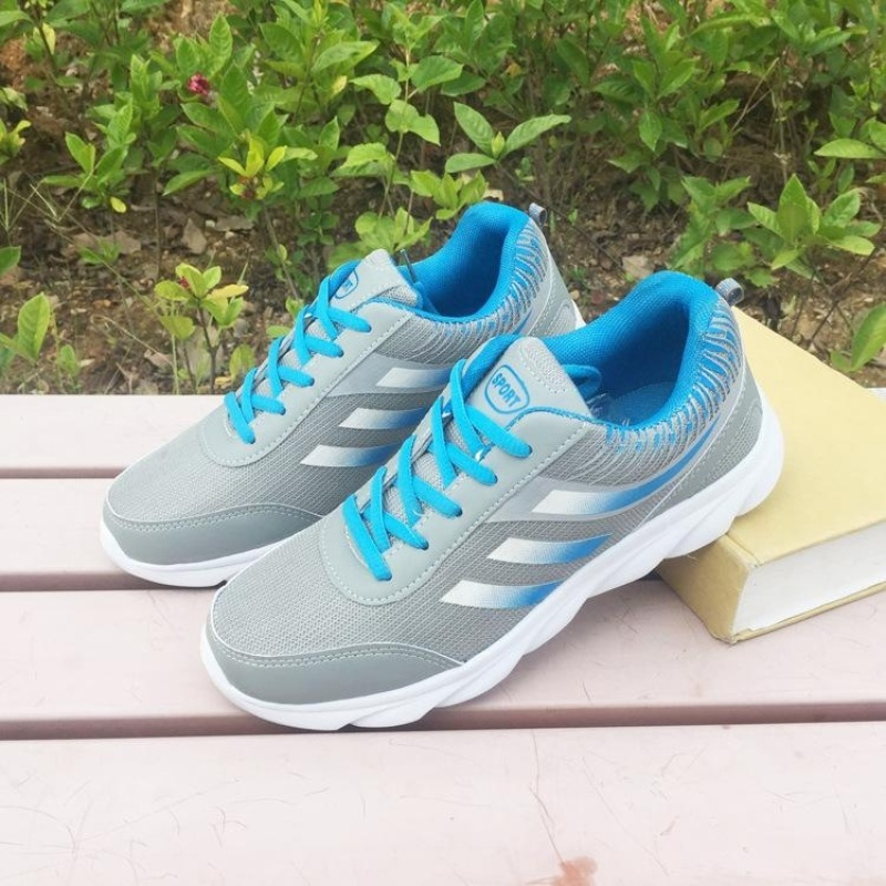 Sport Shoes Mens Air Cushion Running Shoes Outdoor Summer Sneakers Man Walking Jogging Trainer - blue - intl