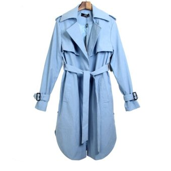 Spring Autumn Trench Coat Long Outerwear (Blue) - intl - 10299148 , OE680FAAA7INYRVNAMZ-13946054 , 224_OE680FAAA7INYRVNAMZ-13946054 , 901000 , Spring-Autumn-Trench-Coat-Long-Outerwear-Blue-intl-224_OE680FAAA7INYRVNAMZ-13946054 , lazada.vn , Spring Autumn Trench Coat Long Outerwear (Blue) - intl