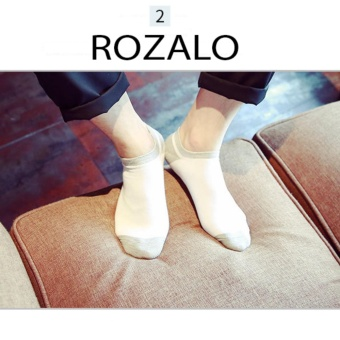 Tất vớ thoáng khí Rozalo R1008TX - Trắng Xám