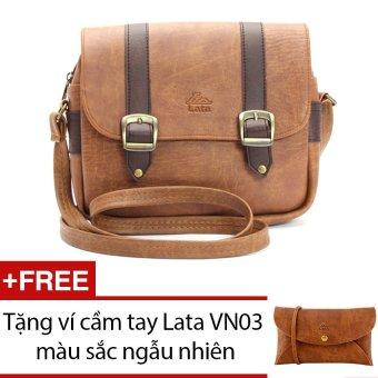 Túi đeo chéo LATA HN05 (Da bò nhạt) + Tặng 1 ví cầm tay Lata VN03