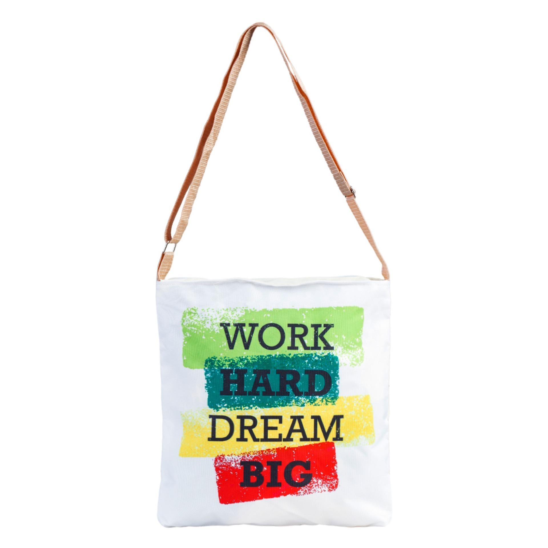 Chỗ nào bán Túi Vải Tote Bag Có Dây Đeo Chéo 4 Màu XinhStore
