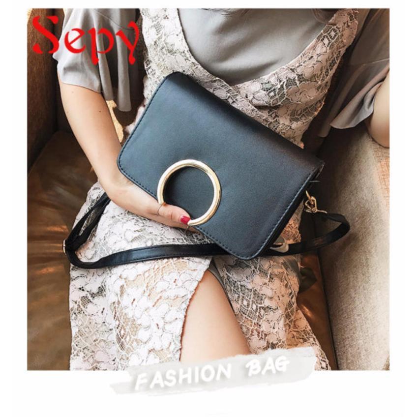 Hình ảnh Túi Xách Thời Trang Nữ Nẹp Tròn Sepy TX014 Tặng Ví Nữ Thời Trang Phong Cách Hàn Quốc trị giá 119k