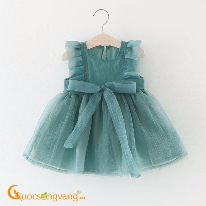 Giá bán Váy đầm bé gái kiểu công chúa tay bèo GLV044-Green