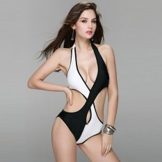 Giá Khuyến Mại Venus queen Women's Contrast Color Vintage Push-Up Bra Plus Size High Waist Summer Neoprene Set Swimsuit Swimwear Bikini Beachwear – intl   Be A Queen BeautyStore