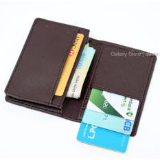 Ví Bóp Nam Nhỏ Gọn Nhiều Ngăn Để Thẻ CMND Galaxy Store GVMB02 (Nâu)