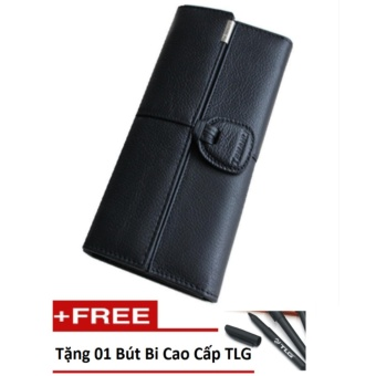 Nơi bán Ví nữ da thật cao cấp Đồ Da Thành Long TLG 204403-2 Tặng 01 chiếc bút TLG cao cấp  uy tín