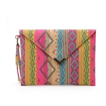Women Envelope Clutch Handbag Purse Tote Ladies Bag - intl