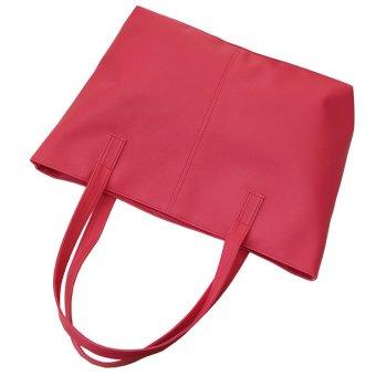 Women PU Leather Tote Bags Handbags Red - intl