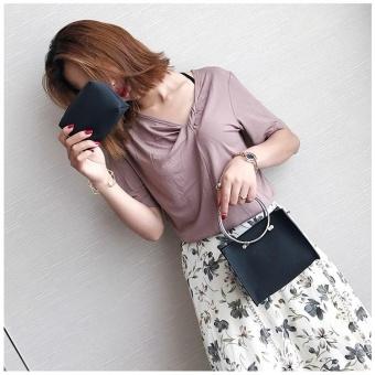 Women Street Style Square Cross Body & Shoulder Bags (Black) - intl