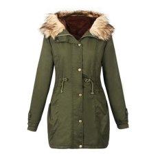 Nơi Bán WomenWar Winter Jacksetong eeve Coat Parka Outwear Hooded – intl