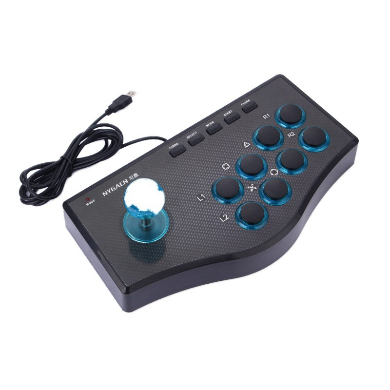 USB Wired Game Controller Game Rocker Arcade Joystick USBF Stick for PS3 Computer PC Gamepad Gaming Console