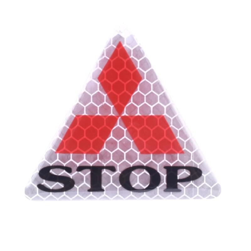 1 miếng sticker phản quang STOP (tam giác bạc)