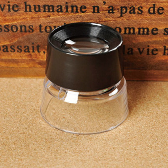 10X Magnifying Glass Magnifiers Microscope for Jeweler Loupe StampAntique(Intl)