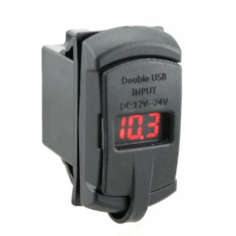2 in1 Rocker Style with Blue Digital Display Voltmeter 4.2A DualUSB (Intl:)