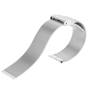 20mm Adjustable Ultra-thin Stainless Steel Mesh Watch Band Strap(Silver) - Intl