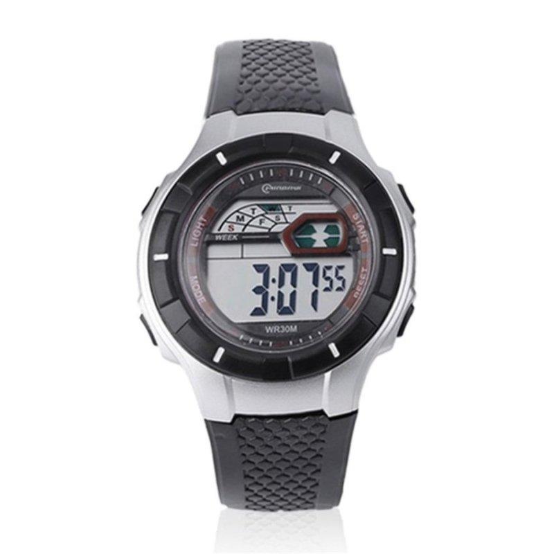 Allwin Watches Women Men Famory LED Digital Electronic LuminousQuartz Wristwatch black - intl bán chạy