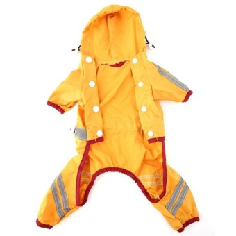 Allwin Young Doggie Pets Raincoat Waterproof Shine Shirts ClothingRain Jackets Orange - intl