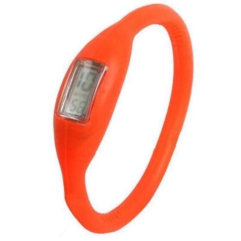 Nơi bán Anion Negative Ion Silicone Bracelet Sports Watch(Orange) - intl
