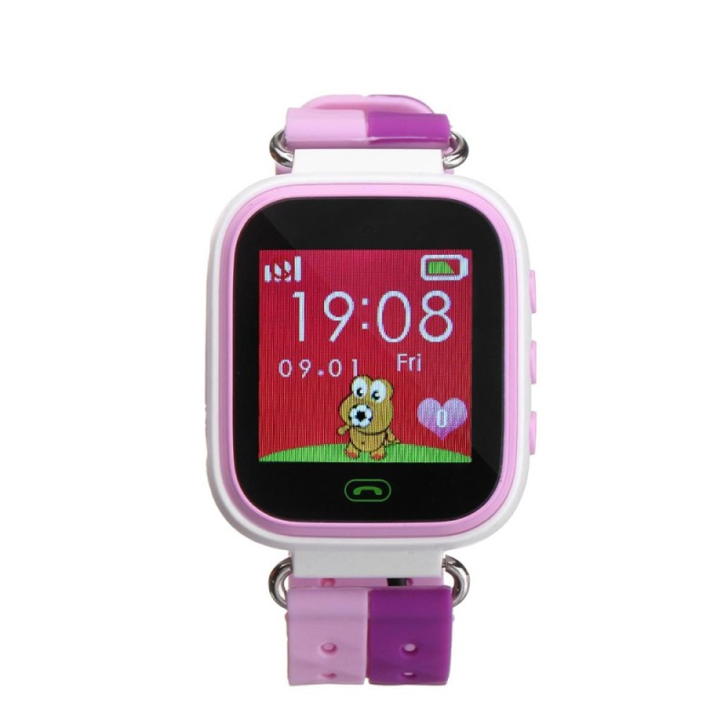 Anti-lost Children Kids Smart LBS Location Tracker Wrist Watch For Android IOS Pink - intl bán chạy