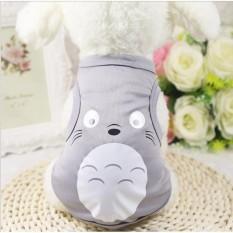 áo chó mèo cao cấp kiểu áo thun in hình mặt toroto xám size l ( dành cho chó mèo 3 - 5 kg )8