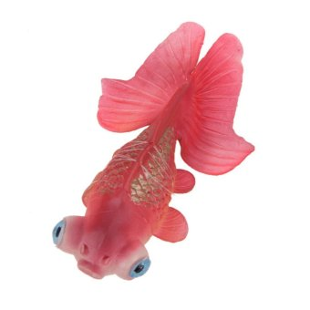 Artificial Silicone Swim Electronic Fish Toy Fish Tank Decor (Red) - intl