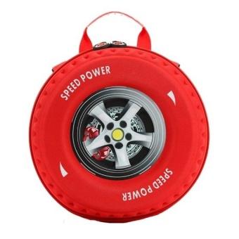 Ba lô hình bánh xe 3D cho bé cho deal 24h (Đỏ)