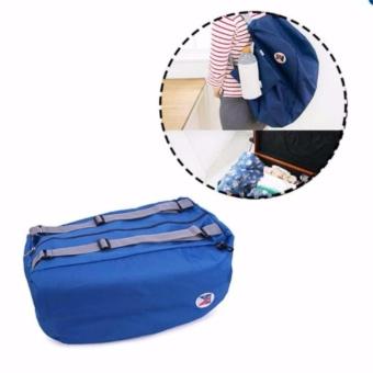 Balo du lịch gấp gọn chống thấm Carry bag (Xanh dương)