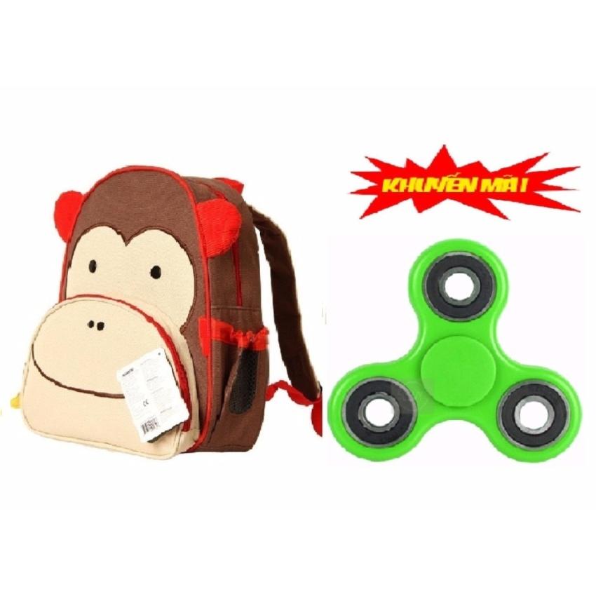 Hình ảnh Balo trẻ em hình thú cho bé 2 đến 5 tuổi (Khỉ con) Tăng 1 đồ chơi con quay