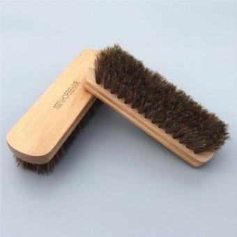 Bàn chải lông bờm ngựa Horse Hair vệ sinh nội thất, da cao cấp 17cmx5cm