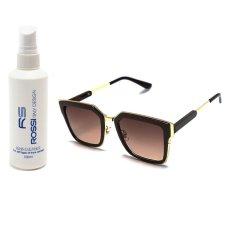 Giảm Giá Bộ 1 Kính mát nam nữ và 1 chai nước rửa kính PAN 36143 (Nâu)  Cong Ty TNHH MTV PAN