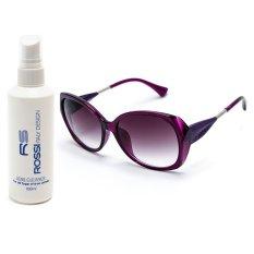 Đánh Giá Bộ 1 kính mát nữ và 1 chai nước rửa kính PAN 60083 (Tím)  Cong Ty TNHH MTV PAN
