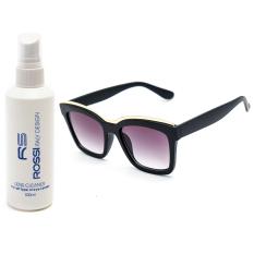 Địa Chỉ Bán Bộ 1 mắt kính nữ và 1 chai nước rửa kính PAN CT2063 (Đen khói)  Cong Ty TNHH MTV PAN