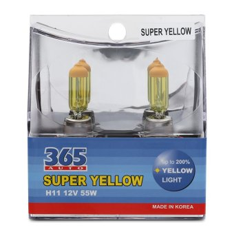 Bộ 2 bóng đèn phá sương 365-Auto H11 Super Yellow (Vàng)