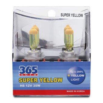 Bộ 2 bóng đèn phá sương 365-Auto H8 Super Yellow (Vàng)