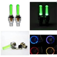 Bộ 2 đèn LED gắn van bánh xe đạp, xe máy, xe ô tô Thiên Ân (Xanh dương)