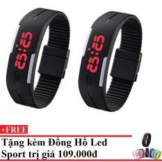 Bộ 2 Đồng hồ đèn led thể thao Chodeal24hvn (Đen) + Tặng Đồng hồ đèn led thể thao Chodeal24hvn