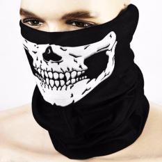 Địa Chỉ Bán Bộ 2 khăn bịt mặt đầu lâu đa năng (Đen)