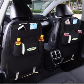 bộ 2 túi đựng đồ 6 ngăn tiện dụng đa năng trên ô tô (đen)