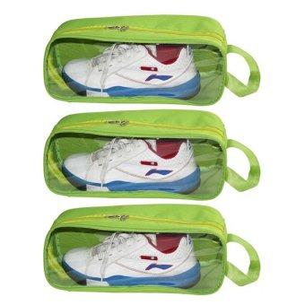 Bộ 3 túi đựng giày du lịch (Xanh chuối)