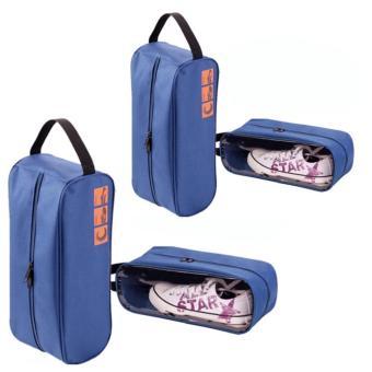 Bộ 4 túi đựng giày thể thao ngăn nắp trong vali, tủ đồ (Xanh)