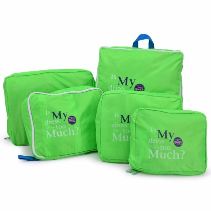 Bộ 5 túi Bag in bags tiện dụng (Cam)