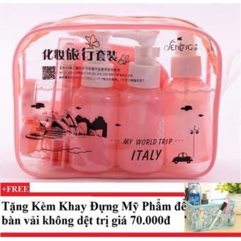 Bộ chiết mỹ phẩm gồm 10 món ( hồng cam) + Tặng kèm khay đựng mỹ phẩm để bàn - 10228855 , CH258OTAA43RDRVNAMZ-7422102 , 224_CH258OTAA43RDRVNAMZ-7422102 , 198000 , Bo-chiet-my-pham-gom-10-mon-hong-cam-Tang-kem-khay-dung-my-pham-de-ban-224_CH258OTAA43RDRVNAMZ-7422102 , lazada.vn , Bộ chiết mỹ phẩm gồm 10 món ( hồng cam) + Tặng kè