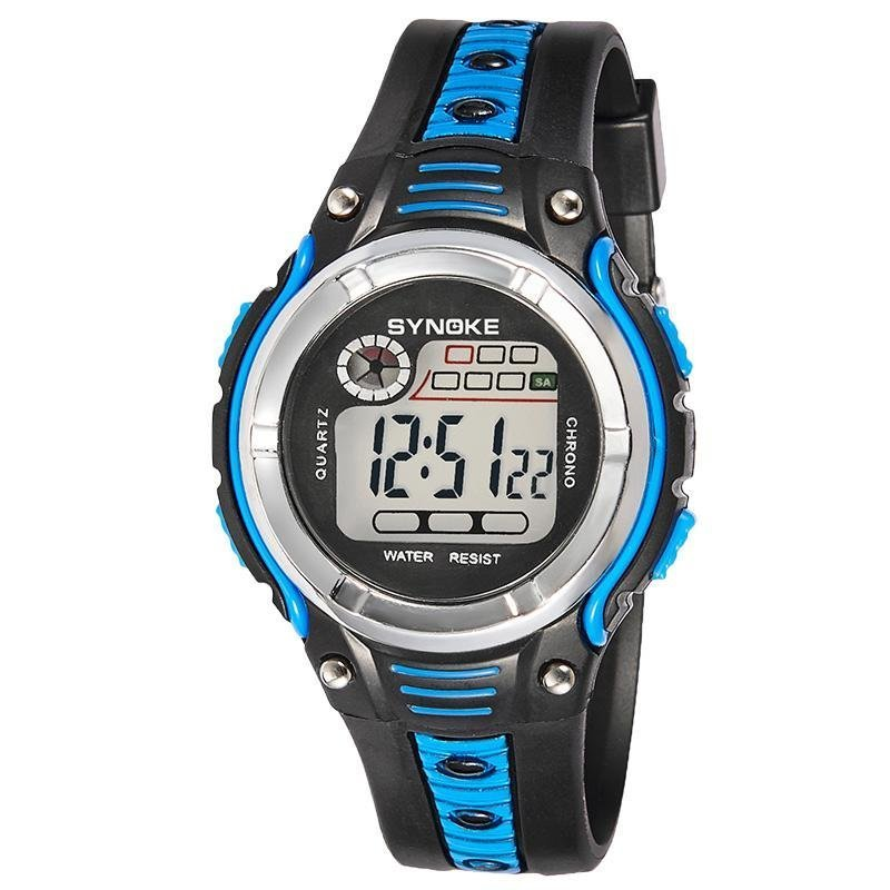 Bounabay Brand Boys Fashion Famous Sport LED Digital Electronic Clock Wrist Watch - intl bán chạy