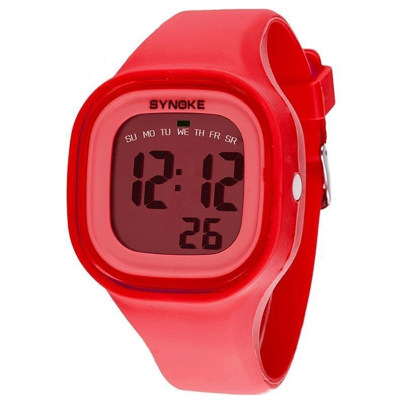 Bounabay Brand Boys Fashion Sports LED Digital Silicone Jelly Waterproof Digital Wrist Watch - intl bán chạy