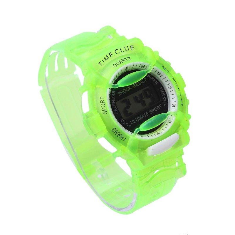 Boys Girls Children Students Waterproof Digital Wrist Sport Watch Green - intl bán chạy