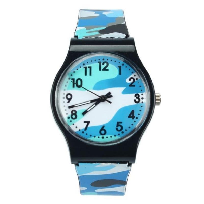 Camouflage Children Watch Quartz Wristwatch For Girls Boy Blue - intl bán chạy