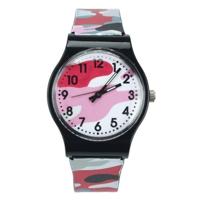 Camouflage Children Watch Quartz Wristwatch For Girls Boy Red - intl bán chạy